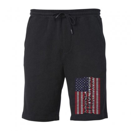 Unknown Pleasures Usa Flag Fleece Short Designed By Mirazjason