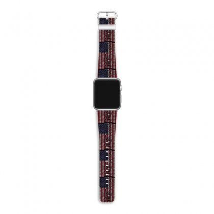 Unknown Pleasures Usa Flag Apple Watch Band Designed By Mirazjason