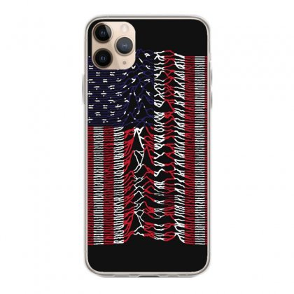 Unknown Pleasures Usa Flag Iphone 11 Pro Max Case Designed By Mirazjason