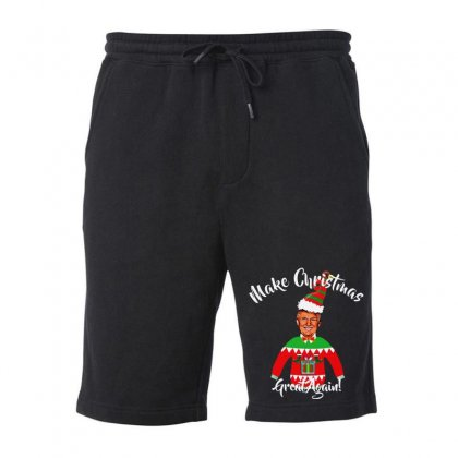 Funny Trump Christmas Ugly Christmas Fleece Short Designed By Mirazjason