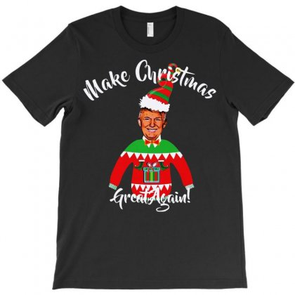 Funny Trump Christmas Ugly Christmas T-shirt Designed By Mirazjason