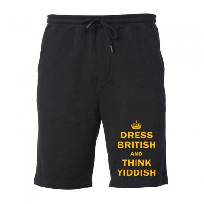 Dress British  And  Think Yiddish   Yellow Fleece Short Designed By Mirazjason