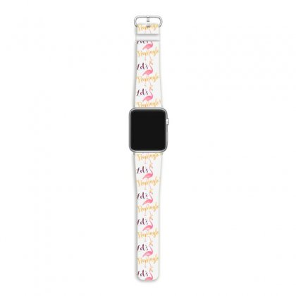 Let's Flamingle! Funny Cute Flamingo Apple Watch Band Designed By Mirazjason