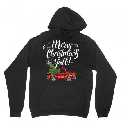 Merry Christmas Y'all For Dark Unisex Hoodie Designed By Mirazjason