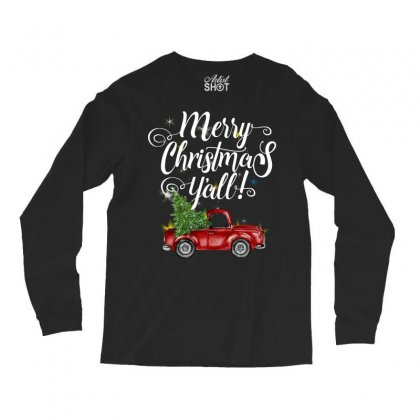 Merry Christmas Y'all For Dark Long Sleeve Shirts Designed By Mirazjason