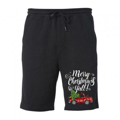 Merry Christmas Y'all For Dark Fleece Short Designed By Mirazjason