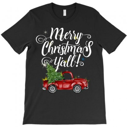 Merry Christmas Y'all For Dark T-shirt Designed By Mirazjason