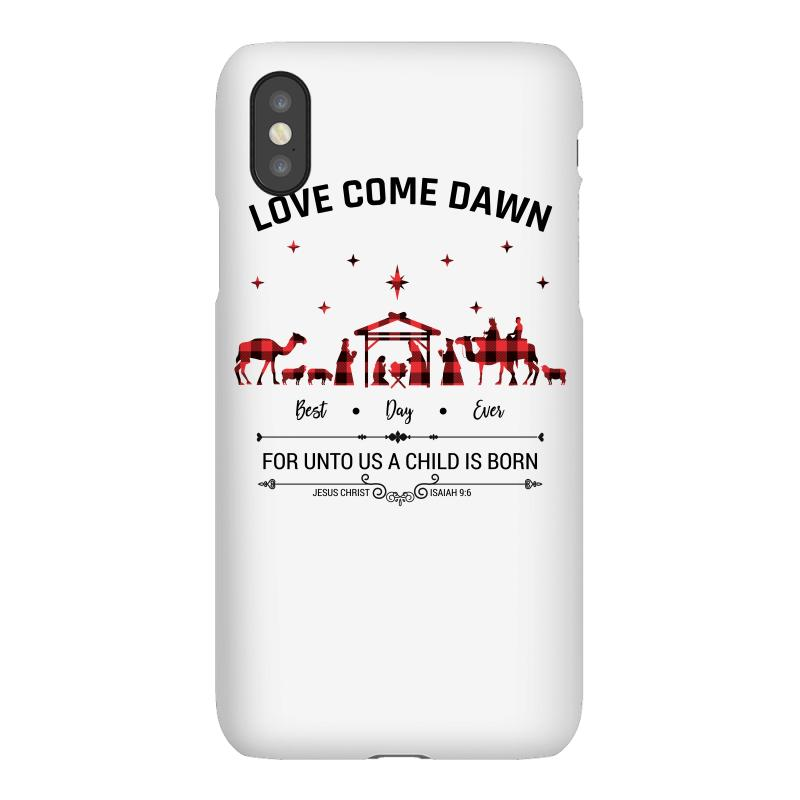 Love Came Down Best Day Ever For Unto Us A Child Is Born Christmas For Iphonex Case | Artistshot