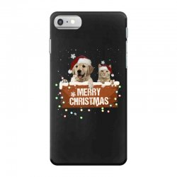 cat and dog merry christmas iPhone 7 Case | Artistshot
