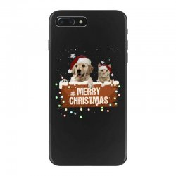 cat and dog merry christmas iPhone 7 Plus Case | Artistshot