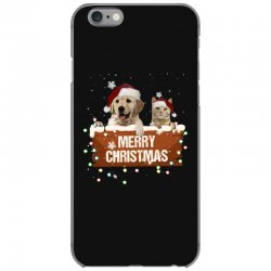 cat and dog merry christmas iPhone 6/6s Case | Artistshot