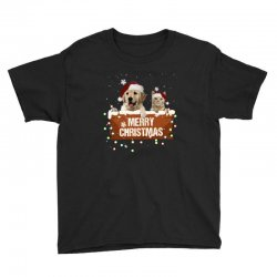 cat and dog merry christmas Youth Tee | Artistshot