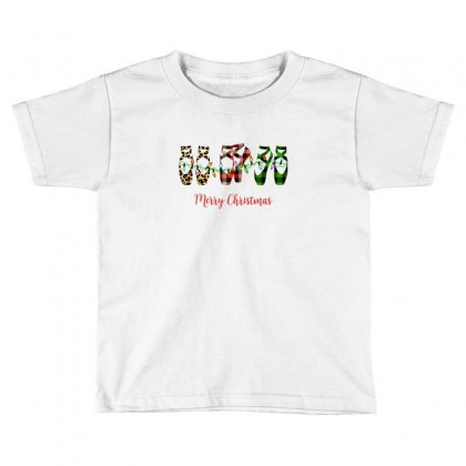 Merry Christmas Ballerina Shoes Plaid Pattern For Light Toddler T-shirt Designed By Zeynepu