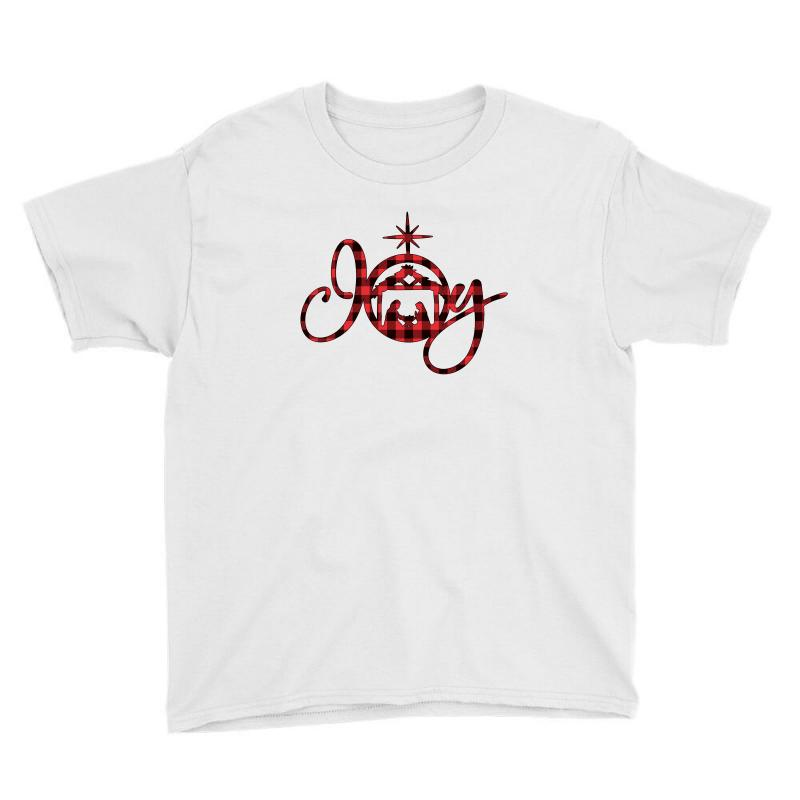 Joy With Christmas Nativity For Light Youth Tee | Artistshot