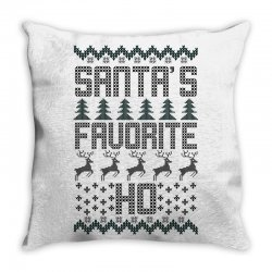 santa's favorite ho for light Throw Pillow | Artistshot