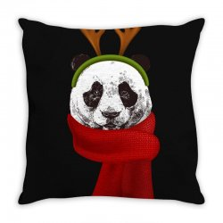 santa claus panda Throw Pillow | Artistshot