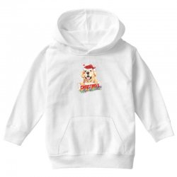 golden dog christmas Youth Hoodie | Artistshot