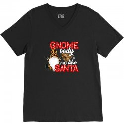 gnome body's me like santa V-Neck Tee | Artistshot