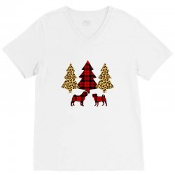 pug christmas tree V-Neck Tee | Artistshot