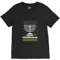 happy chrismukkah hanukkah and christmas V-Neck Tee | Artistshot