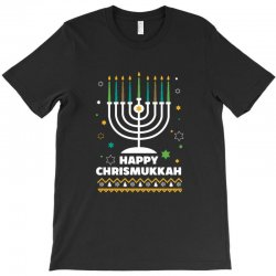 happy chrismukkah hanukkah and christmas T-Shirt | Artistshot