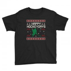 happy hockey days ugly christmas Youth Tee | Artistshot