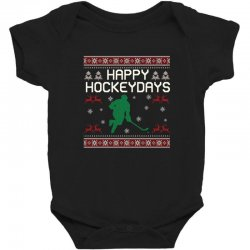 happy hockey days ugly christmas Baby Bodysuit | Artistshot
