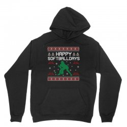 happy softball days ugly christmas Unisex Hoodie | Artistshot