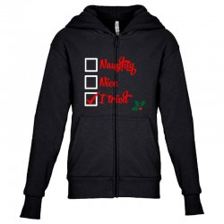 christmas Youth Zipper Hoodie | Artistshot