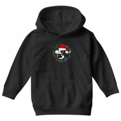 christmas cute cow Youth Hoodie | Artistshot