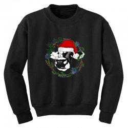 christmas cute cow Youth Sweatshirt | Artistshot