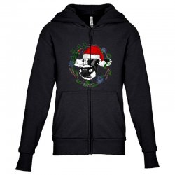 christmas cute cow Youth Zipper Hoodie | Artistshot