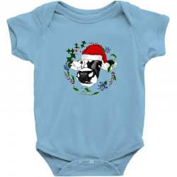 christmas cute cow Baby Bodysuit | Artistshot