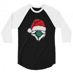 christmas ghost 3/4 Sleeve Shirt | Artistshot