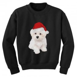 cute bolognese dog 1 Youth Sweatshirt | Artistshot