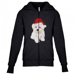 cute bolognese dog 1 Youth Zipper Hoodie | Artistshot