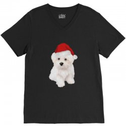 cute bolognese dog 1 V-Neck Tee | Artistshot