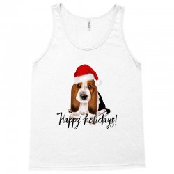 cute santa basset hound dog christmas puppy gift idea Tank Top | Artistshot