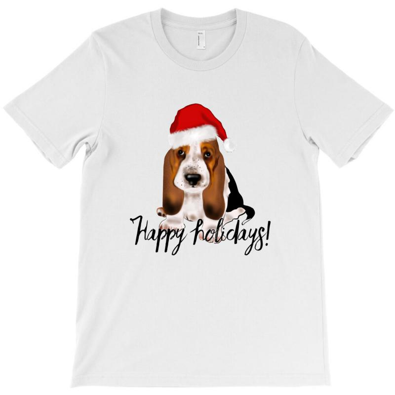 Cute Santa Basset Hound Dog Christmas Puppy Gift Idea T-shirt | Artistshot