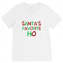 santa's favorite ho awesome V-Neck Tee | Artistshot