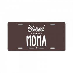 Blessed Moma - Mother's Day Grandma Gift License Plate | Artistshot