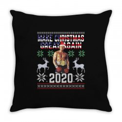 make christmas great again boxer trump Throw Pillow | Artistshot