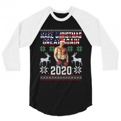 make christmas great again boxer trump 3/4 Sleeve Shirt | Artistshot