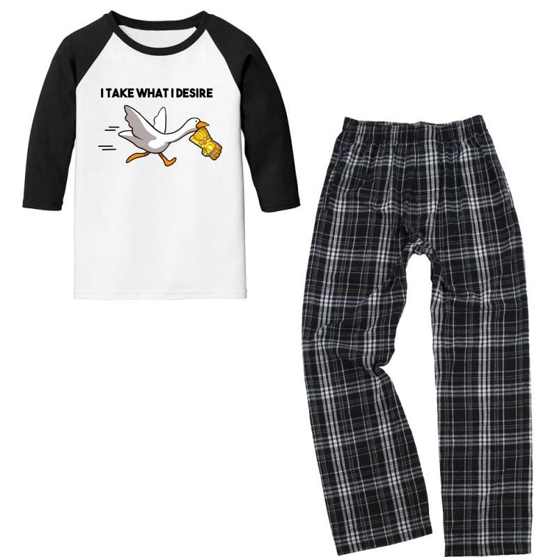 Gauntlet Goose Youth 3/4 Sleeve Pajama Set | Artistshot