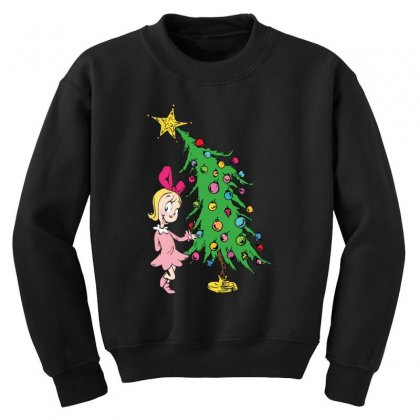 I've Been Cindy Lou Who Good Youth Sweatshirt Designed By Mirazjason