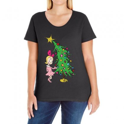I've Been Cindy Lou Who Good Ladies Curvy T-shirt Designed By Mirazjason
