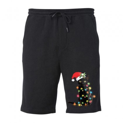 Funny Christmas Cat Fleece Short Designed By Mirazjason