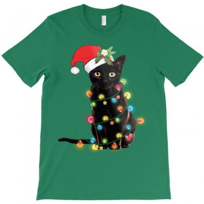 Funny Christmas Cat T-shirt Designed By Mirazjason
