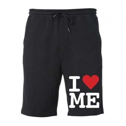 I Heart Me Fleece Short Designed By Mirazjason
