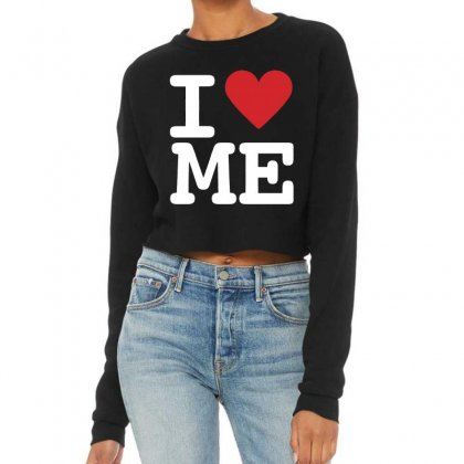 I Heart Me Cropped Sweater Designed By Mirazjason